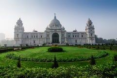 维多利亚纪念品,加尔各答,印度-历史纪念碑。 库存照片