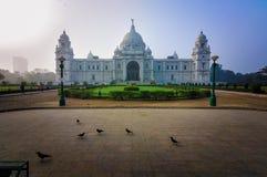 维多利亚纪念品,加尔各答,印度–地标大厦。 免版税图库摄影