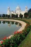维多利亚纪念品,加尔各答,印度–地标大厦。 免版税库存照片