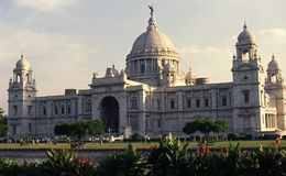 维多利亚纪念品,加尔各答 免版税库存照片