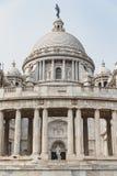 维多利亚纪念堂的左边在加尔各答,印度 免版税库存图片