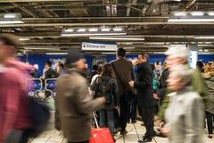 维多利亚线地铁站 免版税库存图片