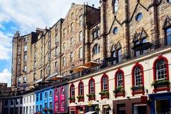 维多利亚街在爱丁堡,苏格兰 库存图片
