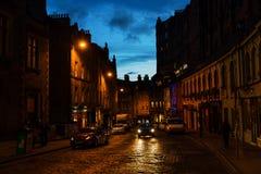 维多利亚街在老镇爱丁堡 库存图片