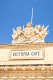 维多利亚门- La瓦莱塔中世纪老城市镇在马耳他 免版税库存照片
