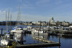 维多利亚,不列颠哥伦比亚省,加拿大港口  免版税库存图片
