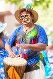 """维多利亚,塞舌尔群岛†""""2014年4月26日:死人面模的地方人 库存照片"""