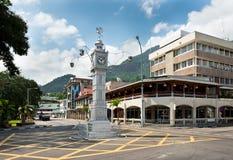 维多利亚,塞舌尔群岛钟楼  免版税图库摄影