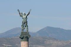 维多利亚, Puerto Banus,马尔韦利亚雕象  库存照片