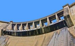 维多利亚水坝特写镜头水门,斯里兰卡 免版税图库摄影