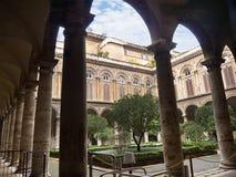多利亚Pamphilj宫殿的庭院庭院在罗马意大利 库存照片