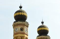 多哈尼街犹太教堂在布达佩斯,匈牙利 布达佩斯极大的匈牙利犹太教堂 库存照片