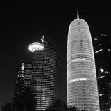 多哈市摩天大楼  免版税库存照片