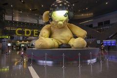 多哈机场装饰 库存图片
