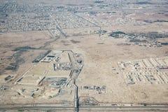 多哈郊外的鸟瞰图  库存图片
