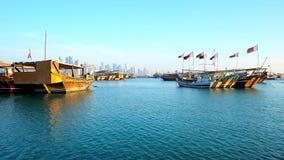 多哈,卡塔尔港口  股票录像