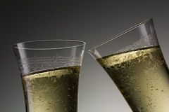多士在新年用香槟 库存图片