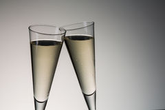多士用冷的香槟 库存照片