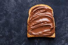 多士用巧克力黄油 免版税库存图片