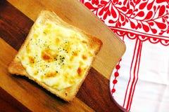 多士用mozarella乳酪&草本 库存照片