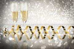 多士香槟,新年 免版税图库摄影