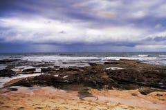 多壳海滩 库存图片