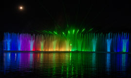 多媒体喷泉 库存图片