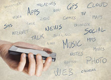 多媒体智能手机 免版税图库摄影