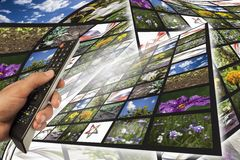 多媒体背景 免版税库存图片
