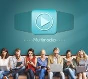多媒体音频计算机数字式娱乐概念 免版税库存图片