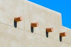 多孔黏土墙壁 库存照片