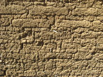 多孔黏土影子墙壁 免版税图库摄影