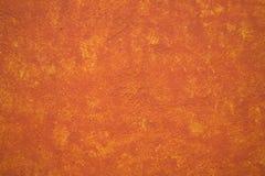 多孔黏土明亮的墨西哥橙色充满活力的墙壁黄色 图库摄影