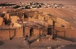 多孔黏土沙漠老城镇 免版税库存图片