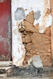 多孔黏土泥墙壁 库存照片