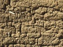 多孔黏土microshadows墙壁 免版税库存照片
