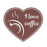 多孔黏土咖啡杯例证做的以图例解释者爱 免版税图库摄影