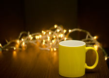 多孔黏土咖啡杯例证做的以图例解释者爱 免版税库存图片