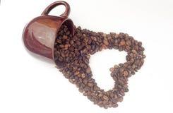 多孔黏土咖啡杯例证做的以图例解释者爱 库存照片