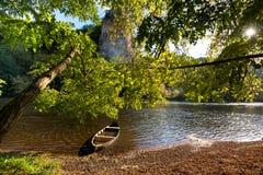 多尔多涅省河在法国 库存照片