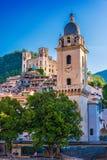 多尔恰夸看法在因佩里亚省,利古里亚,意大利 免版税库存图片