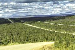 多尔顿高速公路在阿拉斯加 库存图片