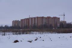 多层的砖公寓 库存照片