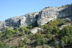 多山克里米亚的峭壁 图库摄影