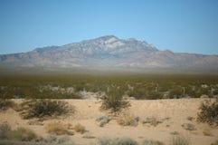 多山沙漠的横向 免版税库存图片