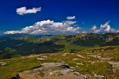 多山的横向 库存图片
