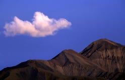多山的横向 库存照片