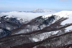 多山的横向 图库摄影