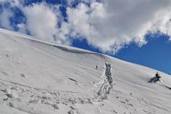 多山的横向 免版税图库摄影