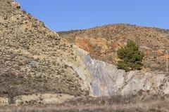 多山自然风景的看法在达罗卡 图库摄影